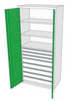 Dílenské skříně DSP 92 1_3x2_5x3