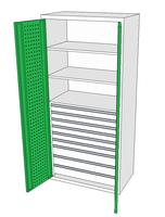 Dílenské skříně DSP 92 1_6x2_3x3