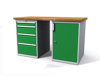Dílenské stoly ALCERA® PROFI ALCERA_P15_4Z_1D