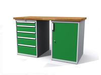 Dílenské stoly ALCERA® PROFI ALCERA_P15_5Z_1D
