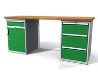 Dílenské stoly ALCERA® PROFI ALCERA_P20_1ZD_3Z