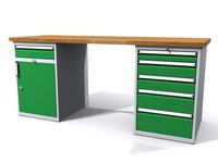 Dílenské stoly ALCERA® PROFI ALCERA_P20_1ZD_5Z