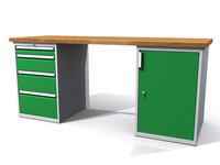 Dílenské stoly ALCERA® PROFI ALCERA_P20_4Z_1D