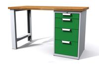 Dílenské stoly ALCERA® UNI ALCERA_U12_PN_4Z