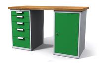Dílenské stoly ALCERA® UNI ALCERA_U15_5Z_1D