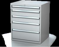 Dielenské zásuvkové skrine 17U - š 710 xh 600 mm DKP 3627 17U 5