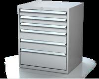 Dielenské zásuvkové skrine 17U - š 710 xh 600 mm DKP 3627 17U 6