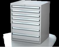 Dielenské zásuvkové skrine 17U - š 710 xh 600 mm DKP 3627 17U 7