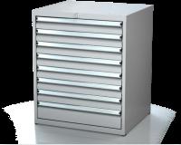 Dielenské zásuvkové skrine 17U - š 710 xh 600 mm DKP 3627 17U 8