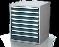 Dílenské zásuvkové skříně 17U - š 710 x h 750 mm DKP 3636 17U 8AB