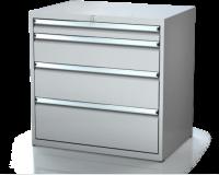 Dielenské zásuvkové skrine 17U - š 860 xh 600 mm DKP 4527 17U 4