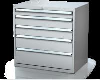 Dielenské zásuvkové skrine 17U - š 860 xh 600 mm DKP 4527 17U 5