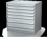 Dielenské zásuvkové skrine 17U - š 860 xh 600 mm DKP 4527 17U 6