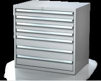 Dielenské zásuvkové skrine 17U - š 860 xh 600 mm DKP 4527 17U 7
