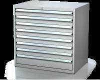 Dielenské zásuvkové skrine 17U - š 860 xh 600 mm DKP 4527 17U 8