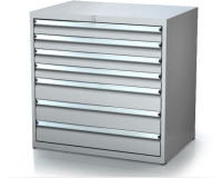 Dielenské zásuvkové skrine 17U - š 860 xh 750 mm DKP 4536 17U 6