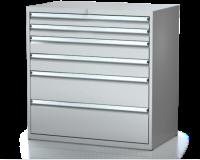 Dielenské zásuvkové skrine 21U - š 1014 xh 600 mm DKP 5427 21U 6
