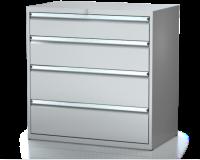 Dielenské zásuvkové skrine 21U - š 1014 xh 750 mm DKP 5436 21U 5
