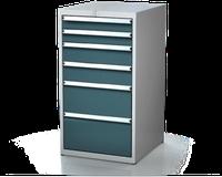 Dílenské zásuvkové skříně 21U - š 555 x h 600 mm DKP 2727 21U 6AB
