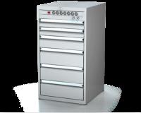 Dielenské zásuvkové skrine 21U - š 555 xh 600 mm DKP 2727 21U 6L EVH