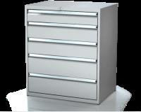 Dielenské zásuvkové skrine 21U - š 860 xh 600 mm DKP 4527 21U 5