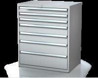 Dielenské zásuvkové skrine 21U - š 860 xh 600 mm DKP 4527 21U 7