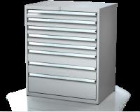 Dielenské zásuvkové skrine 21U - š 860 xh 750 mm DKP 4536 21U 8