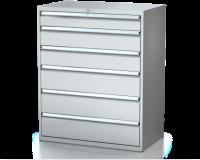 Dielenské zásuvkové skrine 26U - š 1014 xh 600 mm DKP 5427 26U 6