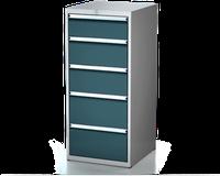 Dílenské zásuvkové skříně 26U - š 555 x h 600 mm DKP 2727 26U 5AB