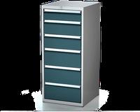 Dílenské zásuvkové skříně 26U - š 555 x h 600 mm DKP 2727 26U 6AB