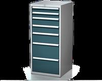 Dílenské zásuvkové skříně 26U - š 555 x h 600 mm DKP 2727 26U 7AB