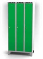 Kovové šatňové skrinky na nohách - dvojplášťové dvere AN 30 3 1 S