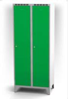 Kovové šatňové skrinky na nohách - dvojplášťové dvere AN 40 2 1 S