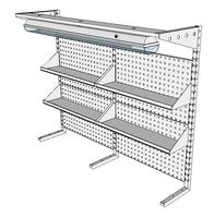 Nástavby dílenských stolů NAS_15_4P200_OT
