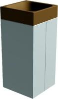 Odpadkový kôš - betón-laminát MM800055