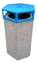 Odpadkový kôš - betón-oceľ MM800216a