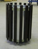Odpadkový kôš - oceľ - drevo MM700176
