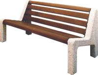 Parková lavička - betón-drevo MM800042