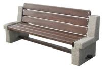 Parková lavička - betón-drevo MM800043