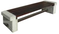 Parková lavička - betón-drevo MM800044