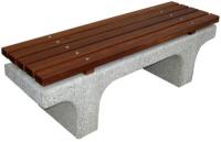 Parková lavička - beton-dřevo MM800045
