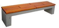 Parková lavička - betón-drevo MM800046