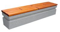 Parková lavička - betón-drevo MM800050