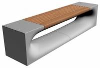 Parková lavička - betón-drevo MM800052