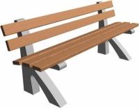 Parková lavička - betón-drevo MM800081