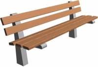 Parková lavička - betón-drevo MM800082