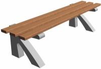 Parková lavička - betón-drevo MM800085