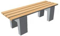 Parková lavička - betón-drevo MM800086