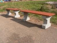 Parková lavička - betón-drevo MM800208