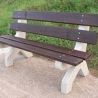 Parková lavička - betón-drevo MM800209